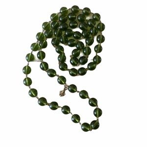 Banana Republic Green Beaded Necklace